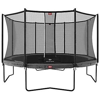 berg champion regular grey 430 14ft trampoline + safety net comfort trampoline
