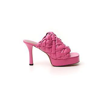 Bottega Veneta 630175vbt105610 Dames's Roze Lederen Slippers