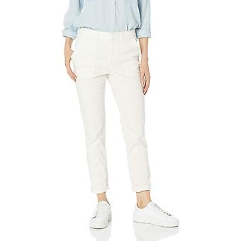 Daily Ritual Women's Patch-Pocket Chino, Cream, 16