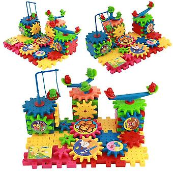 Educational 3d Building Blocks Jucării pentru-Colorat Electric Gears Building Kits