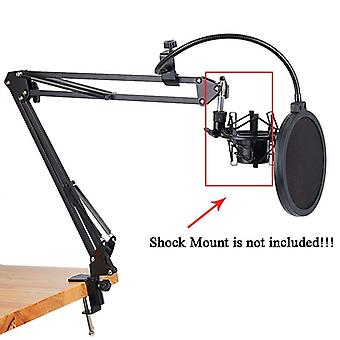 Nb-35 Microphone Scissor Arm Stand And Table Mounting Clamp- Filter Windscreen