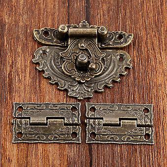 2pcs bisagras de gabinete decorativo para la joyería caja de madera