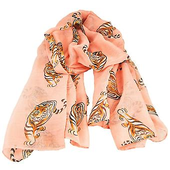 Ties Planet Tiger Animal Print Blush Peach Lightweight Women's Châle Scarf