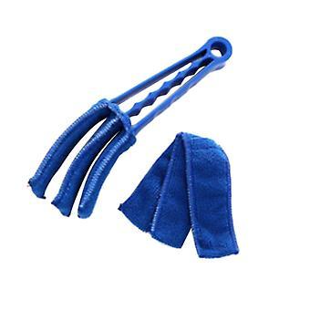 Microfibre Venetian Blind Cleaner Brush for Window Shutters Blue