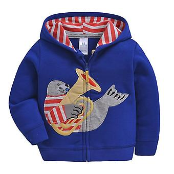 Baby Boys Hooded Moletom Algodão Desenho animado Tops Truck Flower Whale Out Wear Kids Clothes For 9m-3years