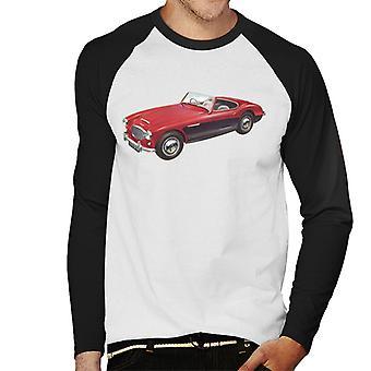Austin Healey 3000 Mark II Punainen Brittiläinen Motor Heritage Men's Baseball Pitkähihainen T-paita