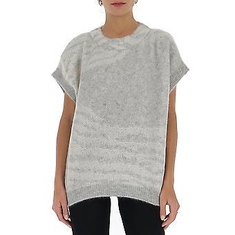 Fabiana Filippi Mad220w098c426vr1 Women's Grey Wool Sweater