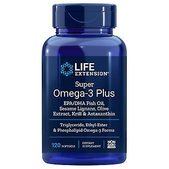 Life Extension Super Omega-3 EPA/DHA mit Sesamlignans & Olivenfruchtextrakt, 120 Soft Gels