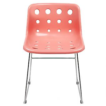 Loft Robin Day Skid Coral Pink Plastic Polo Chair