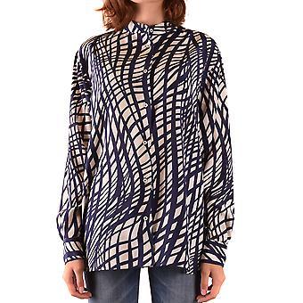Aspesi Ezbc067121 Frauen's Multicolor Seide Bluse