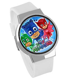 Wasserdichte Leuchten LED Digital Touch Kinder Uhr - PJ Masken #10