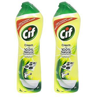 2 x 500ml Cif Lemon Cream All Purpose Cleaner Bathroom Kitchen Sink Tiles