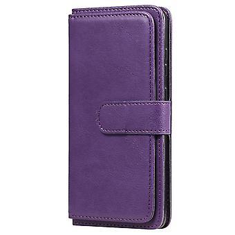 Samsung Galaxy S20 + 5G monitoiminen magneettinen kuparisolki vaakasuora flip kiinteä väri nahkakotelo 10 korttipaikkaa & &Lompakon & &Pidike Phot