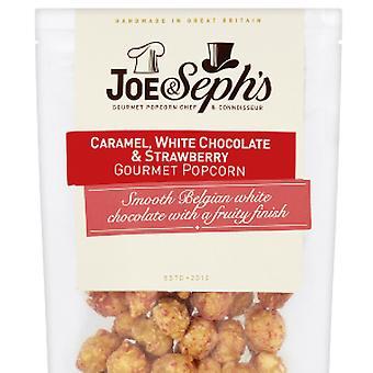 White Chocolate & Strawberry Popcorn
