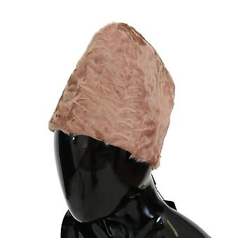 Dolce & Gabbana Beige Xiangao Lamb Fur Beanie