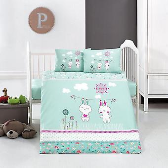 Class Bunny Mint Baby Duvet Cover Set