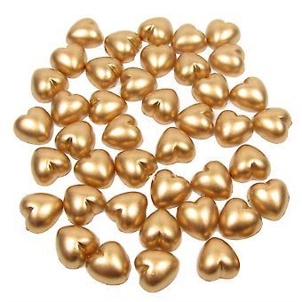 الذهب لؤلؤة القلب شكل الخرز شقة مدعومة. حزمة من 50 حبات