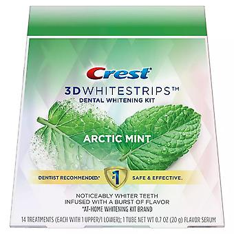 Crest 3d whitestrips dentalstrips whitestrips whitening kit, menta artica, 28 ea