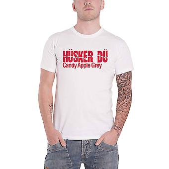 Husker Du T Shirt Candy Apple Grey Band Logo new Official Mens