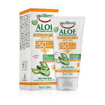 Anti-aging Face Sun Cream SPF 50+ 75 ml of cream