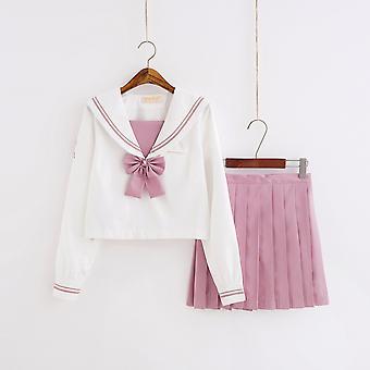 Japonské školní uniformy pro - dlouhé námořnické topy plisované sukně sady