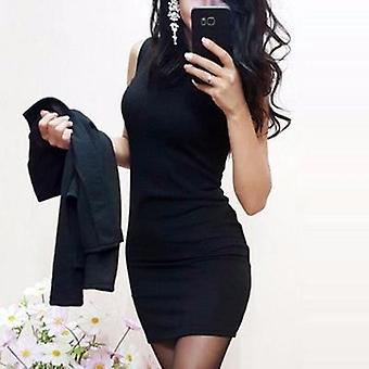 Women & apos;s مثير اغليج O-الرقبة فستان صغير معطف عارضة