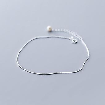 Snake Chain Perle Anklet