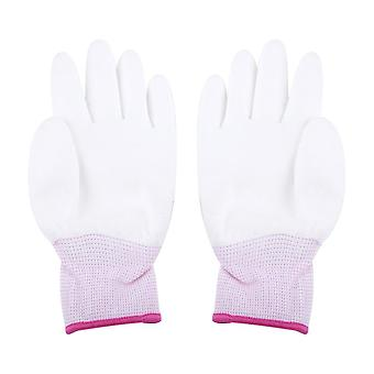 Anti Static, Antiskid Glove, Pu Coated, Finger Part Clean Gloves, Knitted, Anti