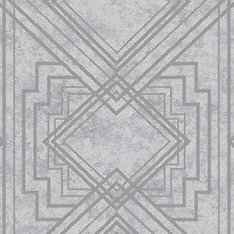 Delano Grey/Silver Wallpaper