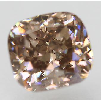 Cert 1.16 Karat Fancy Intense Brown VVS1 Tyyny Natural Diamond 5.96x5.65mm 2EX
