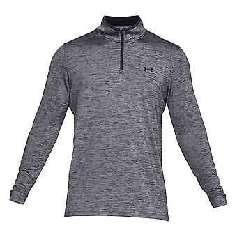 Under Armour Mens Play Off Zip Top Pull Pullover Manches longues