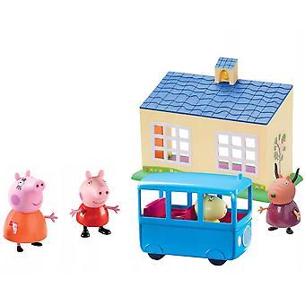 Peppa Pig, Playset - School and Bus