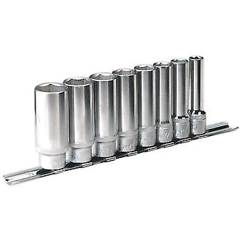 "Sealey AK2831 Socket Set Deep Walldrive 8pc 3/8""sq Drive Imperial"