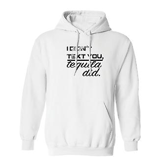 I Didn't Text You Drinks Did Graphic Men's White Hoodie
