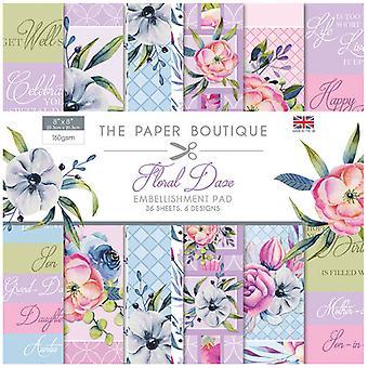 The Paper Boutique - Floral Daze Collection - 8x8 Embellishments Pad