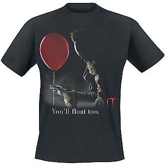 Ele unisex adultos Pennywise vermelho balão impressão T-shirt