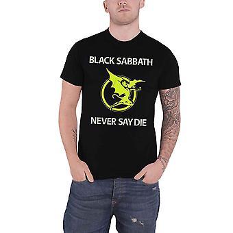 Black Sabbath Never Say Die Demon Band Logo Official Mens New Black T Shirt