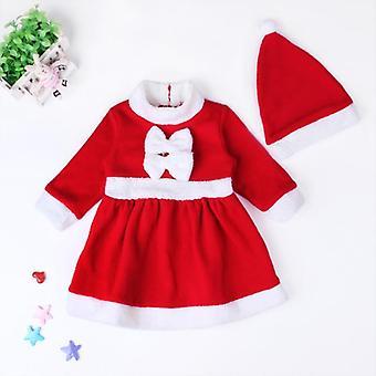クリスマスサンタクロースのコスチューム - 長袖、冬のドレス&
