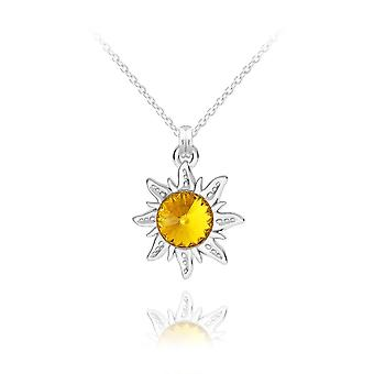قلادة زهرة الشمس الفضية