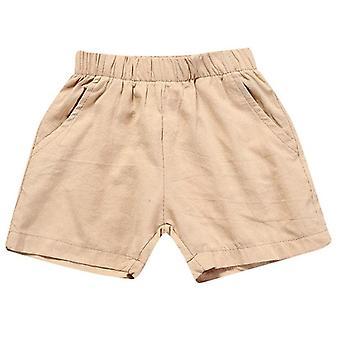 Baby Summer Cotton Solid Pp Linen Shorts Harem Pants