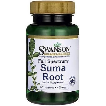 Swanson Suma-Wurzel mit vollem Spektrum 400 mg 60 Kapseln