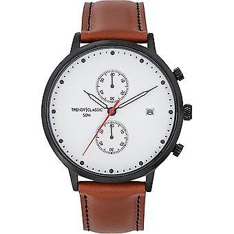 TrendyClassic - Wristwatch - Men - Duel cuir - CC1046-01