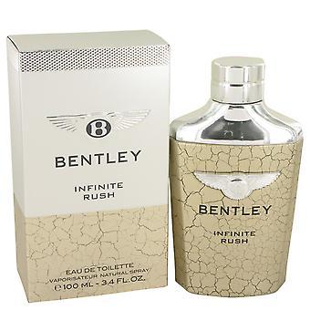 Bentley Infinite Rush by Bentley Eau De Toilette Spray 3.4 oz