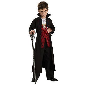 الأولاد العمر 3-10 سنوات القوطية الكونت مصاص الدماء زي هالوين يتوهم اللباس