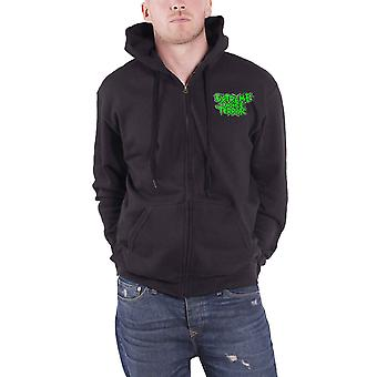 Extreme Noise Terror Hoodie Hardcore Attack new Official Mens Black Zipped