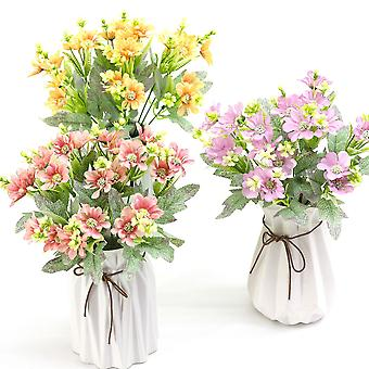5pcs flor artificial hoja de arce crisantemo flores secas regalo de flores falsas para las mujeres
