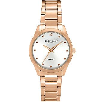 Kenneth Cole Kc50938002 Modern Classic Diamond Mother Of Pearl Rose Gold Stainless Steel Ladies Watch