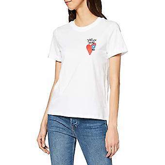 edc by Esprit 010cc1k316 T-Shirt, White (White 100), X-Small Woman