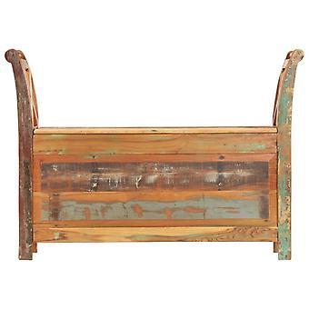 vidaXL banco de piso 103x33x72 cm residuos sólidos de madera