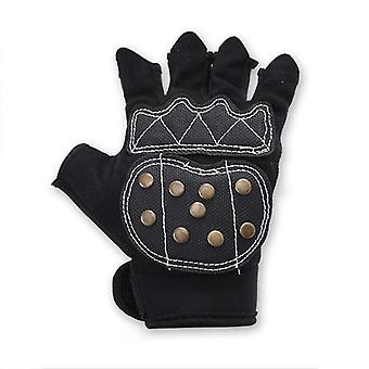 2Pcs m adult professional roller skating gloves with braking copper nails cai1658